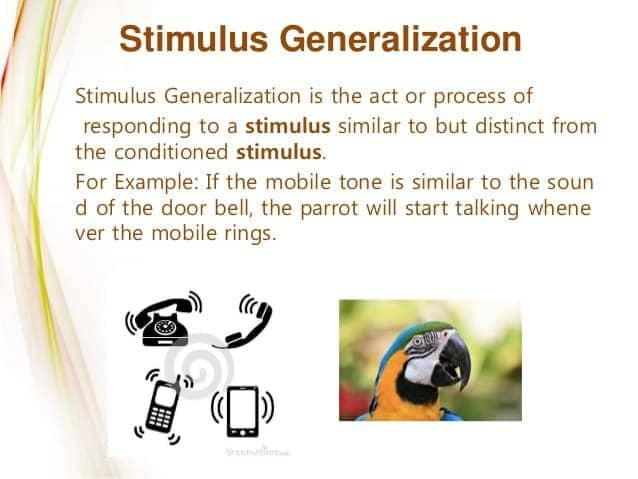 Image result for classical conditioning generalization